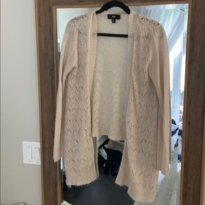 Mossimo Lightweight Waterfall Open Cardigan - L